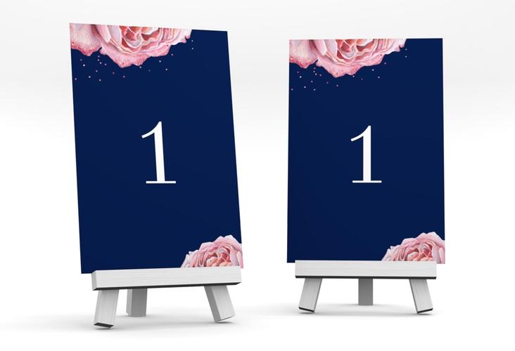 """Tischnummer Hochzeit """"Cherie"""" Tischaufsteller rosa"""