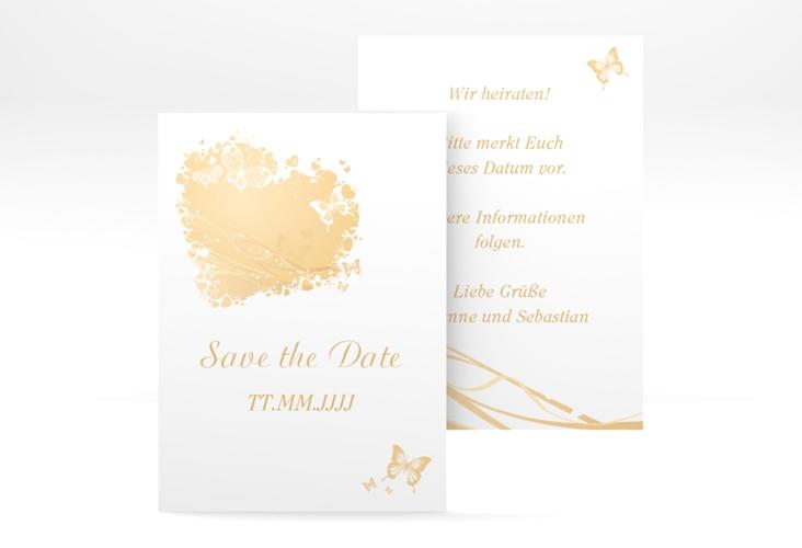 "Save the Date-Visitenkarte ""Mailand"" Visitenkarte beige"