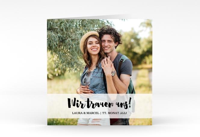 """Hochzeitseinladung """"Mirage"""" Quadratische Klappkarte"""