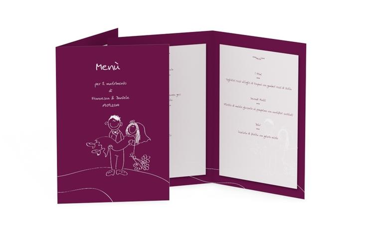 Menù matrimonio collezione Pisa DIN A5 geklappt