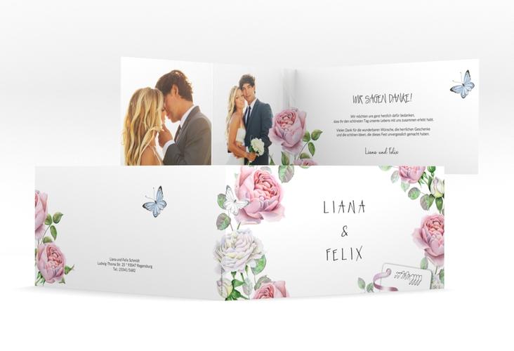 """Danksagungskarte Hochzeit """"Primavera"""" DIN lang Klappkarte"""