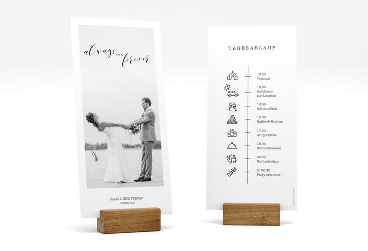 """Tagesablauf Hochzeit """"Photoframe"""" DIN lang hoch"""