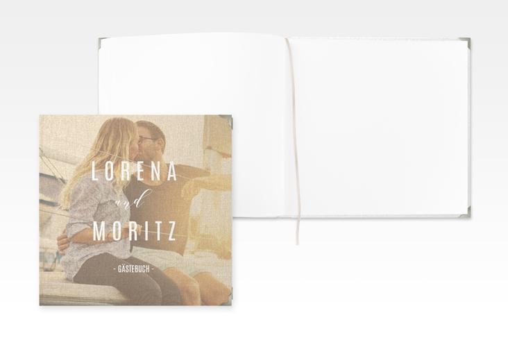 """Gästebuch Selection Hochzeit """"Memory"""" Leinen-Hardcover beige"""