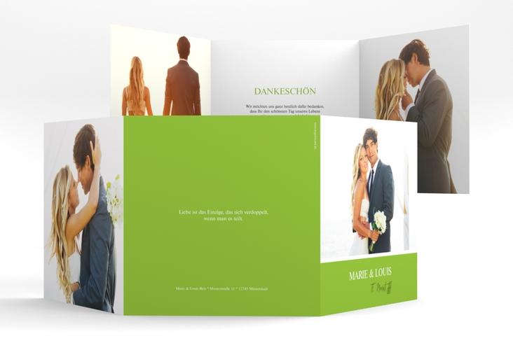 "Dankeskarte Hochzeit ""Balance"" Quadr. Karte doppelt"
