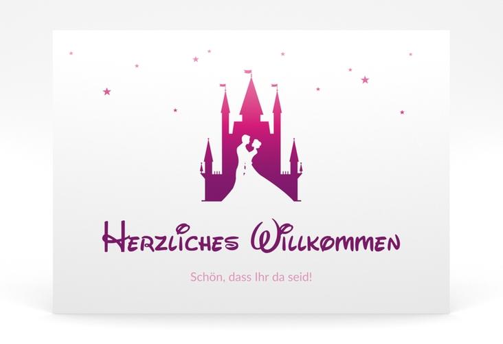 """Willkommensschild Poster """"Castle"""" 70 x 50 cm Poster pink"""