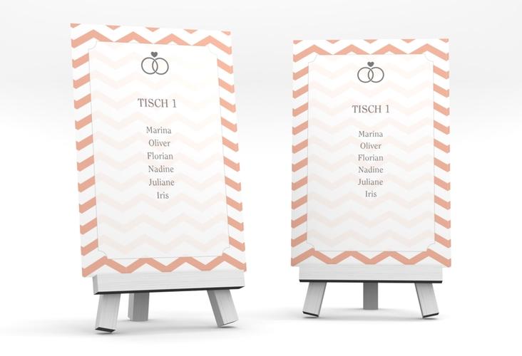 """Tischaufsteller Hochzeit """"Avery"""" Tischaufsteller weiss"""