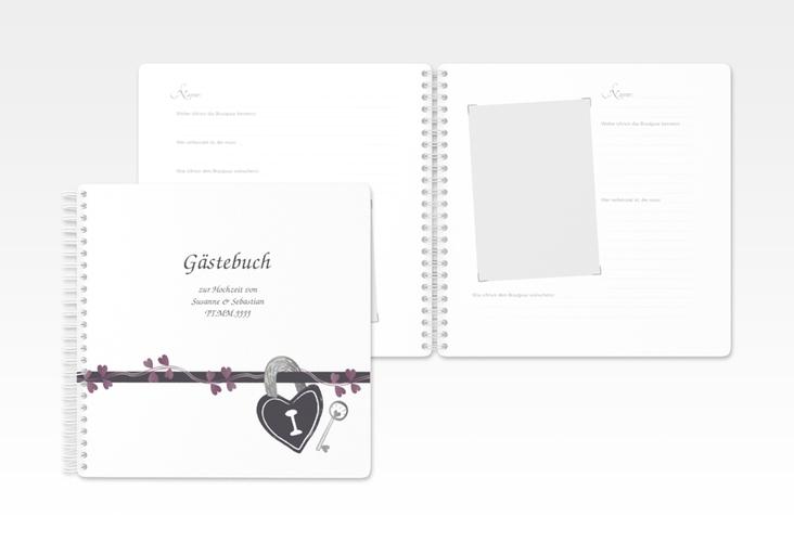 """Gästebuch Hochzeit """"Oviedo"""" Ringbindung grau"""