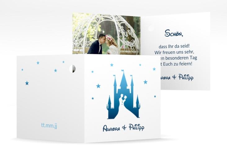 """Geschenkanhänger Hochzeit """"Castle"""" Geschenkanhänger 10er Set blau"""