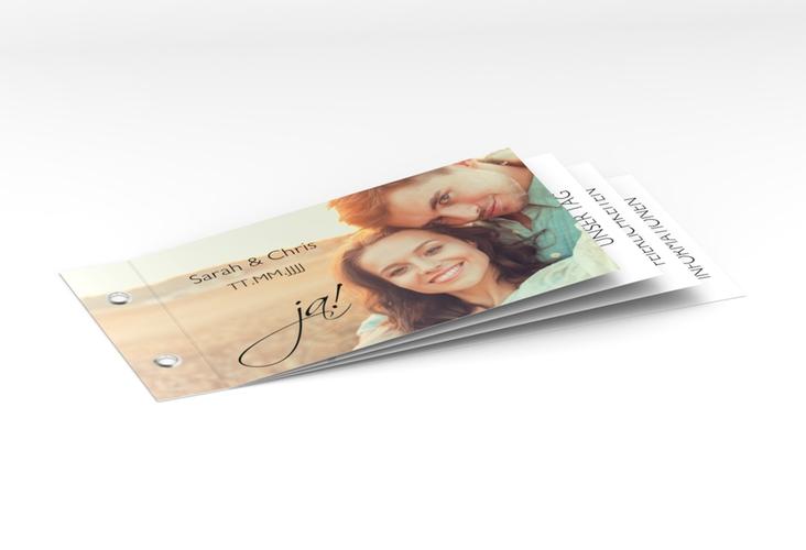 """Hochzeitseinladung """"Clarity"""" Booklet"""