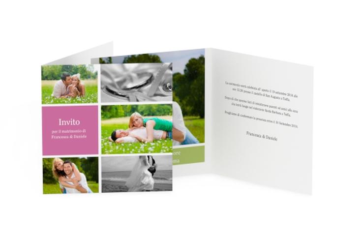 Inviti matrimonio collezione Nizza Quadratische Klappkarte