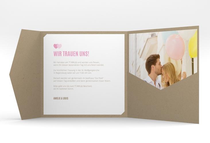 """Hochzeitseinladung """"Couple"""" Pocketfold"""