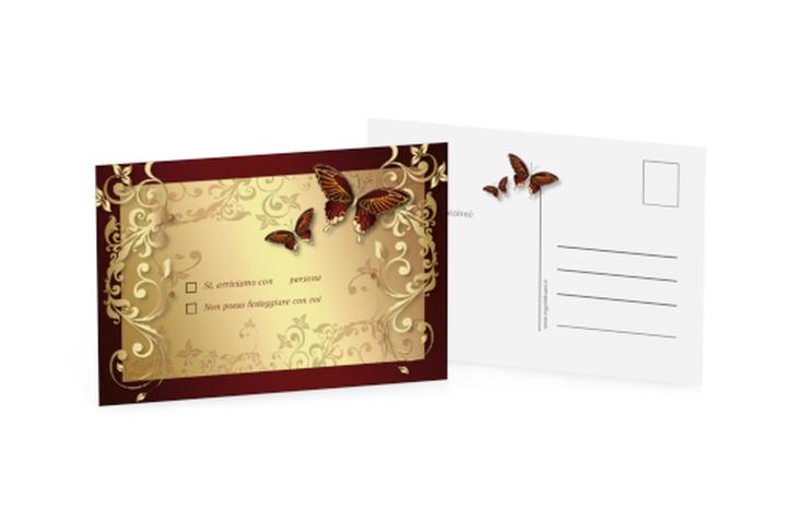 Biglietti risposta matrimonio collezione Tolosa A6 Postkarte