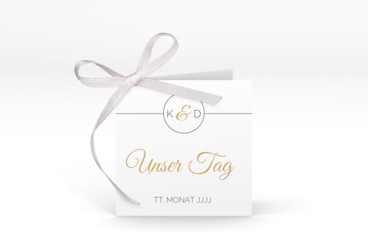 """Geschenkanhänger Hochzeit """"Unique"""" Geschenkanhänger 10er Set gold"""