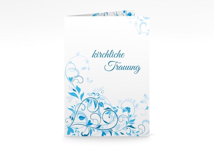 """Kirchenheft Hochzeit """"Lilly"""" DIN A5 geklappt blau"""