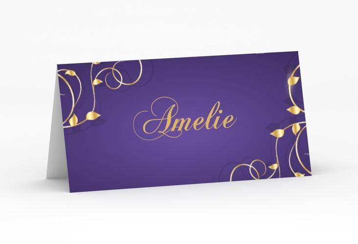"""Tischkarte Hochzeit """"Eternity"""" Tischkarten lila"""