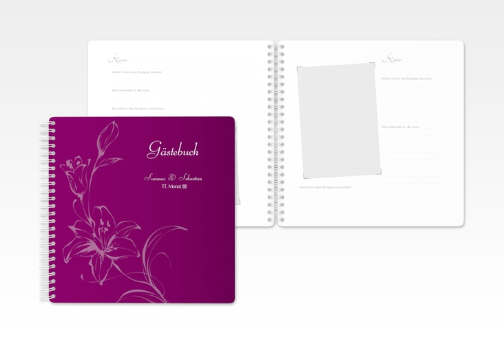 "Gästebuch Hochzeit ""Lille"" Ringbindung"