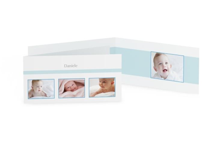 Biglietti nascita cornice quadrato DIN lang Klappkarte