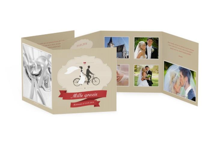 Ringraziamenti matrimonio collezione Asti Quadr. Karte doppelt
