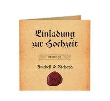 """Einladung Hochzeit """"Mittelalter"""""""