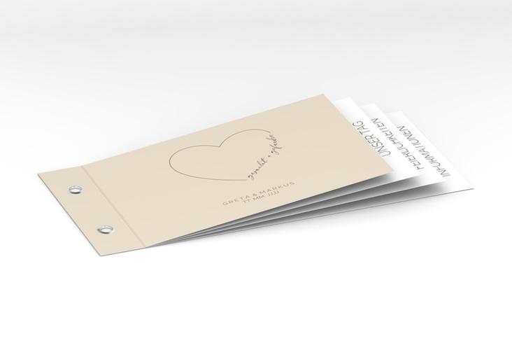 """Hochzeitseinladung """"Lebenstraum"""" Booklet"""