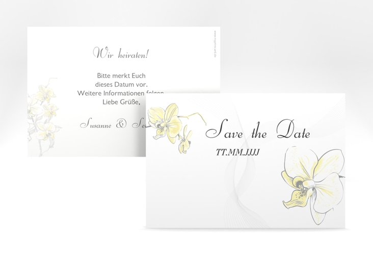 "Save the Date-Karte Hochzeit ""Modena"" A6 quer"