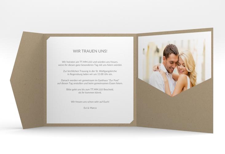 """Hochzeitseinladung """"Vista"""" Pocketfold weiss"""