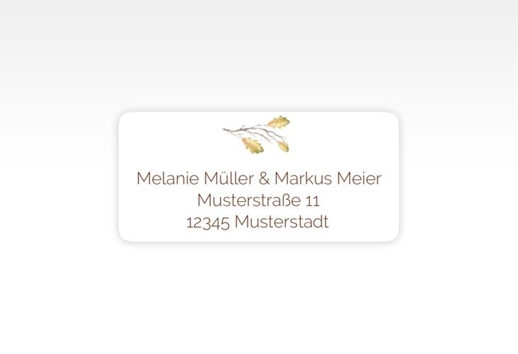 """Absenderetikett Hochzeit """"Herbsthochzeit"""" 45,7 x 21,2 mm weiss"""
