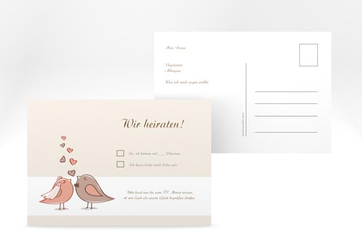 """Antwortkarte Hochzeit """"Venedig"""" A6 Postkarte"""