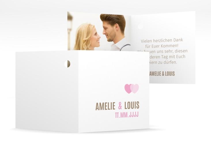 "Geschenkanhänger Hochzeit ""Couple"" Geschenkanhänger 10er Set rosa"