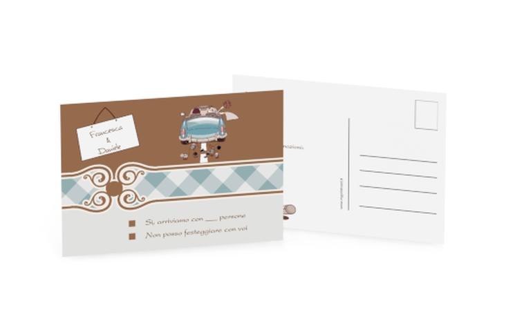 Biglietti risposta matrimonio collezione Stoccarda A6 Postkarte