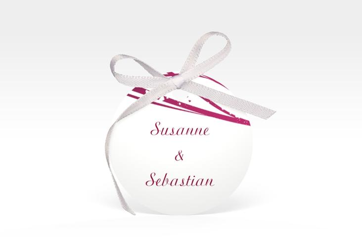 """Geschenkanhänger Hochzeit """"Mailand"""" Geschenkanhänger, rund pink"""