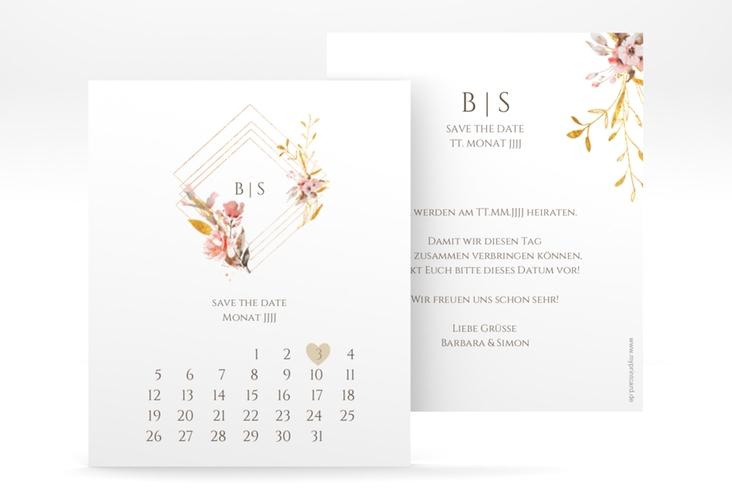 "Save the Date-Kalenderblatt ""Rosalie"" Kalenderblatt-Karte"
