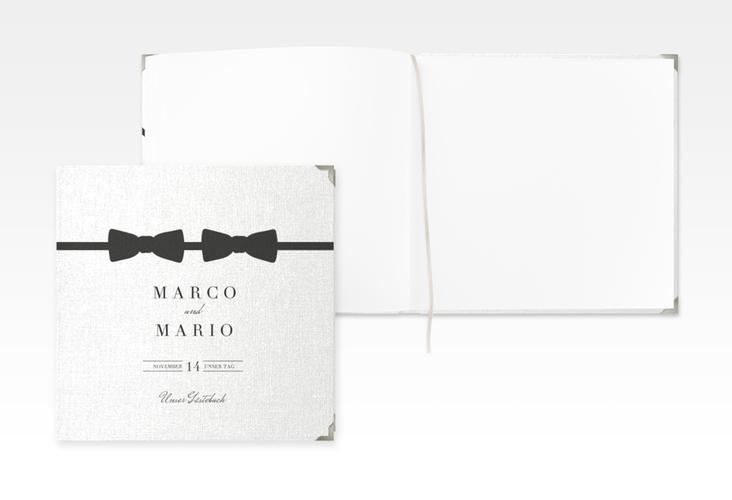 """Gästebuch Selection Hochzeit """"Suits"""" Leinen-Hardcover schwarz"""