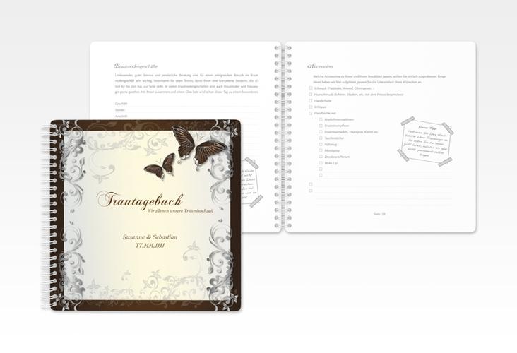 """Trautagebuch Hochzeit """"Toulouse"""" Trautagebuch Hochzeit braun"""