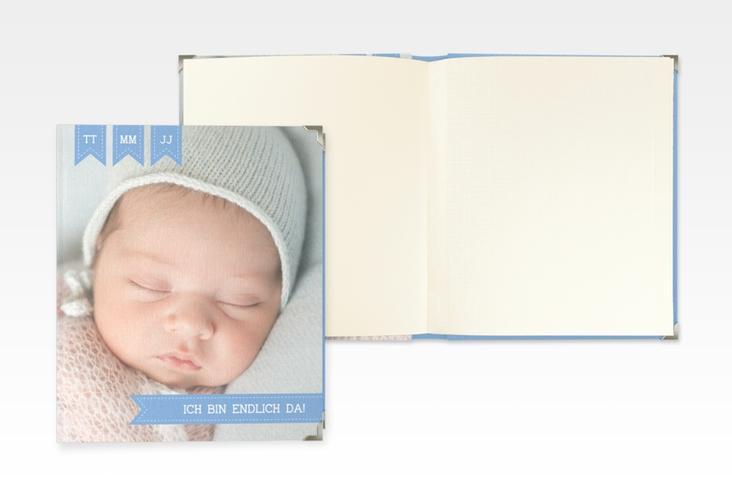 "Baby Fotoalbum ""Kinderlachen"" 21 x 25 cm blau"