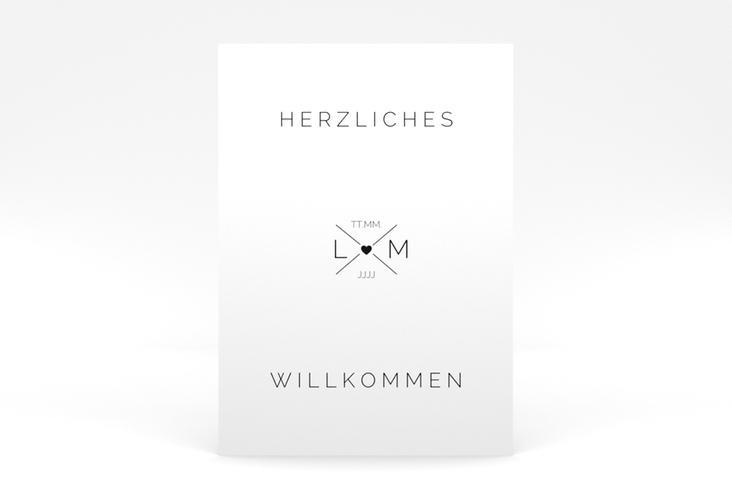 """Willkommensschild Poster """"Initials"""" 50 x 70 cm Poster schwarz"""