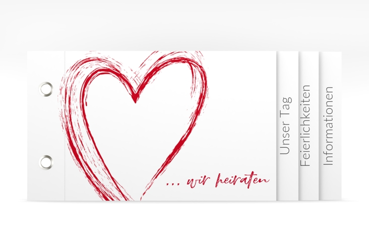 """Hochzeitseinladung """"Liebe"""" Booklet"""