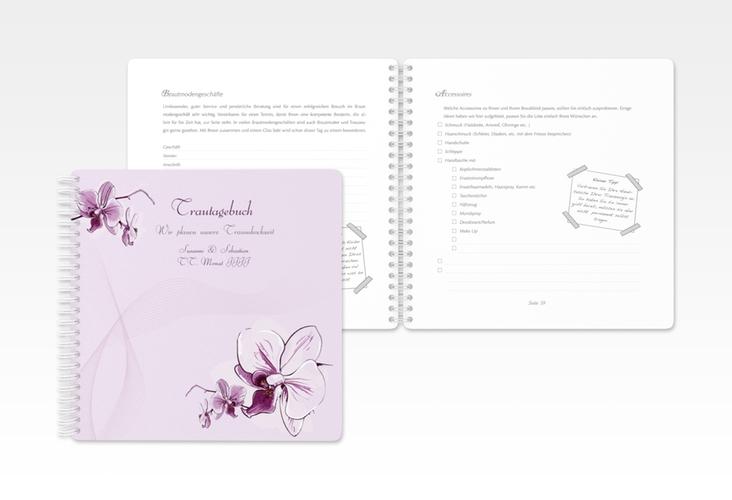 """Trautagebuch Hochzeit """"Modena"""" Trautagebuch Hochzeit lila"""