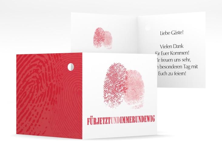 """Geschenkanhänger Hochzeit """"Messina"""" Geschenkanhänger 10er Set rot"""
