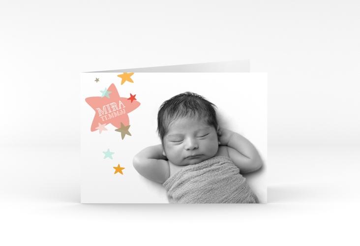 """Geburtskarte """"Sternenhimmel"""" A6 Klappkarte Quer"""