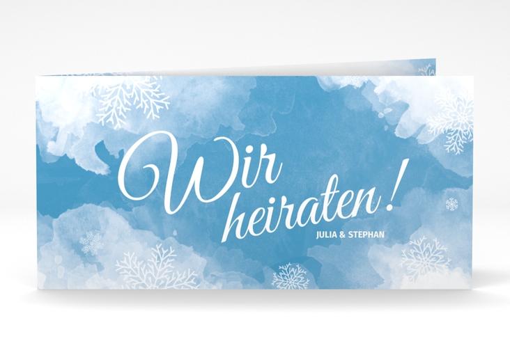 """Hochzeitseinladung """"Frozen"""" DIN lang Klappkarte"""