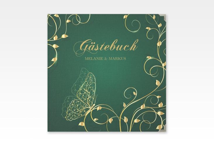 """Gästebuch Selection Hochzeit """"Eternity"""" Leinen-Hardcover gruen"""