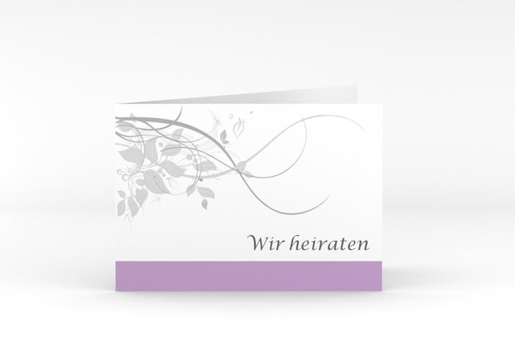 """Hochzeitseinladung """"Florenz"""" A6 Klappkarte Quer flieder"""