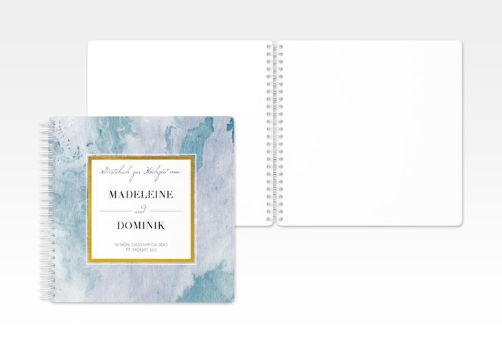 """Gästebuch Hochzeit """"Marble"""" Ringbindung"""