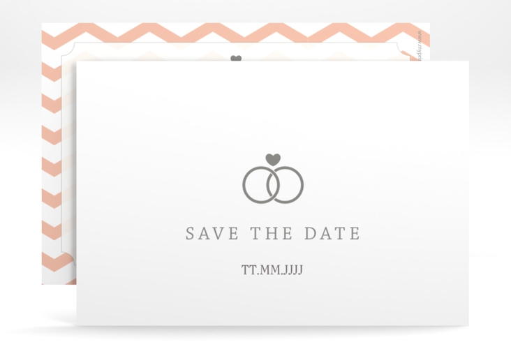"Save the Date-Karte Hochzeit ""Avery"" A6 quer"