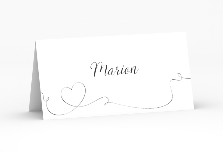 """Tischkarte Hochzeit """"Dolce"""" Tischkarten weiss"""