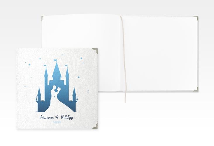 "Gästebuch Selection Hochzeit ""Castle"" Leinen-Hardcover blau"