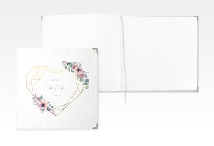 """Gästebuch Selection Hochzeit """"Herzgold"""" Leinen-Hardcover"""