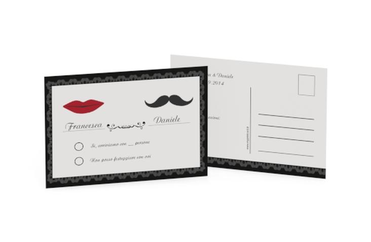 Biglietti risposta matrimonio collezione Arezzo A6 Postkarte