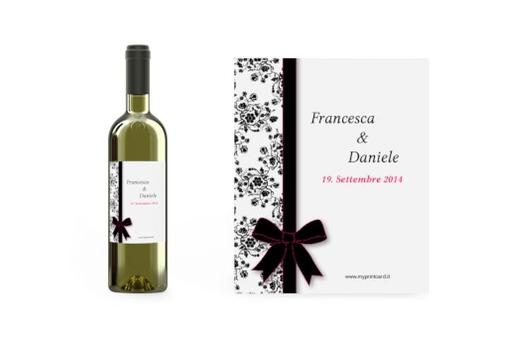 Etichette vino matrimonio collezione Bologna Etikett Weinflasche 4er Set